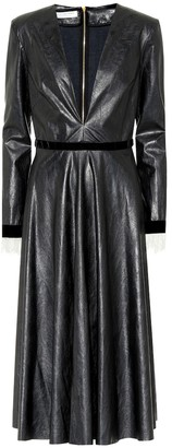 Philosophy di Lorenzo Serafini Faux leather dress