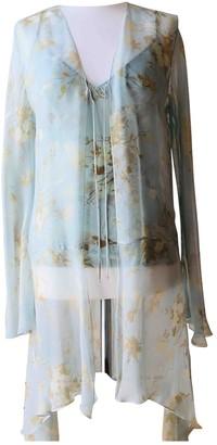 La Perla Turquoise Silk Top for Women