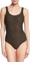 Zimmermann Textured Leopard-Print One-Piece Swimsuit