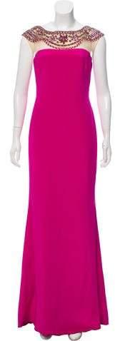 Marchesa Embellished Silk Gown