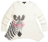 Imoga Watercolor Zebra Tunic, White, Size 2-6