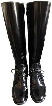 Louis Vuitton Black Patent leather Boots