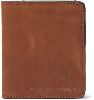 Brunello Cucinelli Nubuck Bifold Cardholder