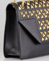 Borsa Saint Laurent Betty Studded Chain Shoulder Bag, Black