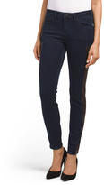 Juniors Faux Leather Side Jeans