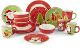 North Pole Trading Co JCPenney HomeTM Wonderland Holiday 16-pc. Dinnerware Set