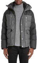 Burberry Leyton Two-Tone Wool Quilted Down Jacket