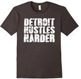 Detroit Hustles Harder T-Shirt Detroit Shirt #2