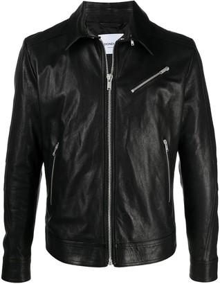 Dondup Leather Shirt Jacket
