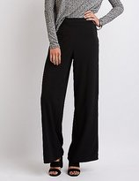 Charlotte Russe Pleated Wide-Leg Trousers