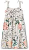 Gap Floral Tie-Shoulder Dress