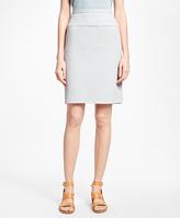 Brooks Brothers Positive-Negative Pastel Polka Dot A-Line Skirt