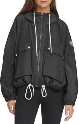 DKNY Reversible Hooded Windbreaker Jacket