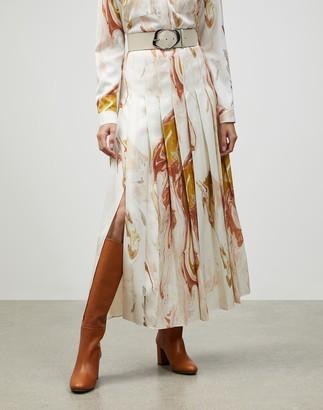 Lafayette 148 New York Geode Print Eleanor Maxi Skirt
