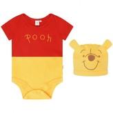 Disney BabyWinnie The Pooh Bodysuit With Hat
