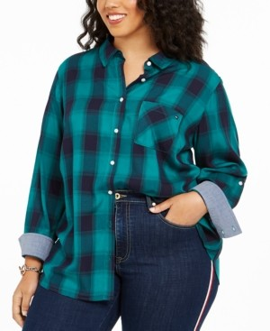 Tommy Hilfiger Plus Size Plaid Shirt