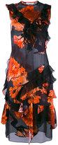 Givenchy ruffle trim printed dress - women - Silk - 38