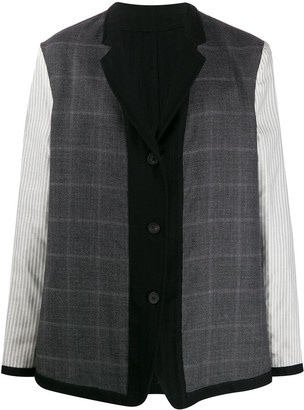 Ann Demeulemeester mixed pattern panelled jacket