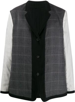 Ann Demeulemeester Mixed Pattern Panelled Jacket
