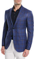 Ermenegildo Zegna Wool-Silk Plaid Jacket