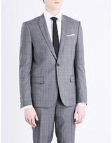 The Kooples Prince Of Wales Check Slim-fit Wool Jacket