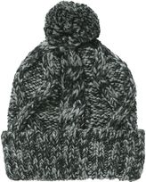 Charcoal Cable Bobble Beanie