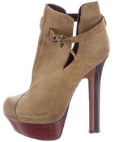 Fendi Suede Platform Ankle Boots