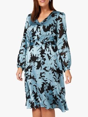 Studio 8 Mina Floral Print Fit and Flare Dress, Blue