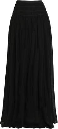 Oscar de la Renta Gathered Silk Maxi Skirt