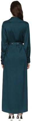 Sies Marjan Satin Crepe Envers Wrap Shirt Dress
