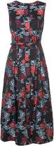 Oscar de la Renta floral print dress - women - Silk/Polyester - 8