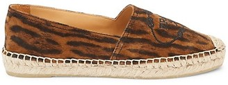 Prada Leopard-Print Leather Espadrille Loafers