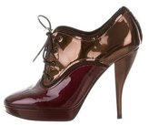 Lanvin Patent Leather Lace-Up Booties