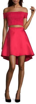 My Michelle Juniors Short Sleeve Dress Set