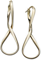 Italian Gold Figure 8 Hoop Earrings in 14k Gold