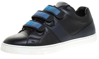 Fendi Black Leather Velcro Strap Sneakers Size 41