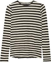 Proenza Schouler Striped Slub Cotton-jersey Top - Black