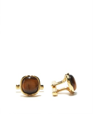 Fernando Jorge Tiger's Eye & 18kt Gold Cufflinks - Yellow Gold