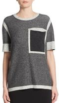 Derek Lam 10 Crosby Two-Tone Marled Knit Pullover