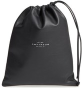 Smythson Large Leather Pouch - Black