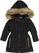 Steve Madden Black Three-Quarter Length Puffer Coat - Toddler & Girls