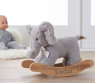Pottery Barn Kids Doll Plush Elephant Rocker