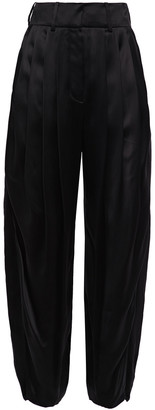 Lanvin Pleated Satin Tapered Pants