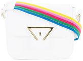 Sara Battaglia striped strap shoulder bag