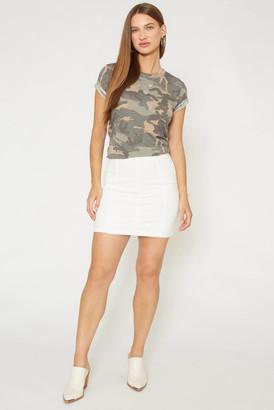 Free People White Modern Femme Denim Mini Skirt White 0