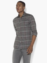 John Varvatos Slim Fit Shirt With Contrast Placket