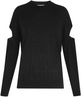 Whistles Cut Out Sleeve Sweater