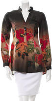 Etro Silk Floral Print Blouse