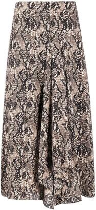 Veronica Beard Snakeprint Midi Skirt