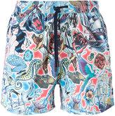 Etro tattoo print swim shorts - men - Nylon - S